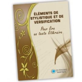 ÉLÉMENTS DE STYLISTIQUE ET DE VERSIFICATION