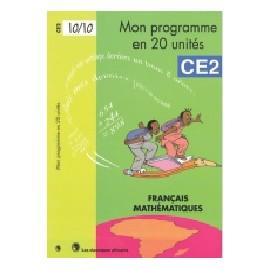 MON PROGRAMME EN 20 UNITE CE2